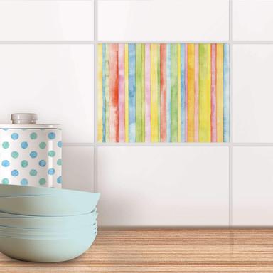 Fliesenfolie - Watercolor Stripes