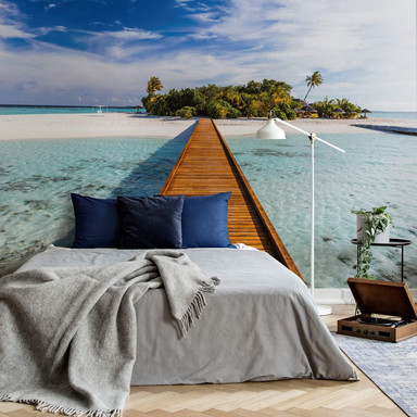 Fototapete Papiertapete Colombo - Paradies in der Südsee - 366x254cm - Bild 1
