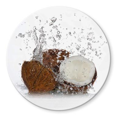Glasbild Caribbean Coconut - rund