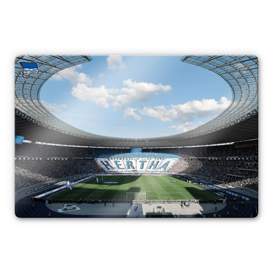 Glasbild Hertha BSC - Stadion am Tag