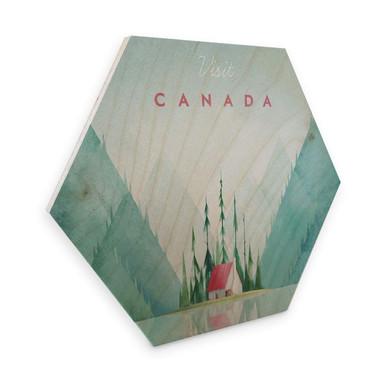 Hexagon - Holz Birke-Furnier Rivers - Kanada