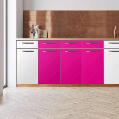 Küchenfolie - Unterschrank 120cm Breite - Pink Dark