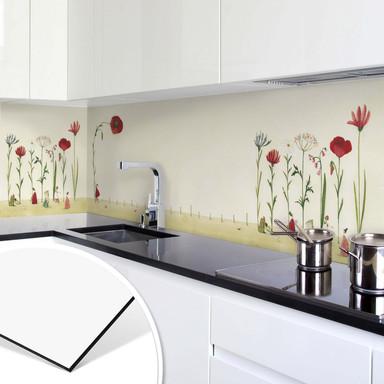 Küchenrückwand Leffler - Blumensamen - Panorama