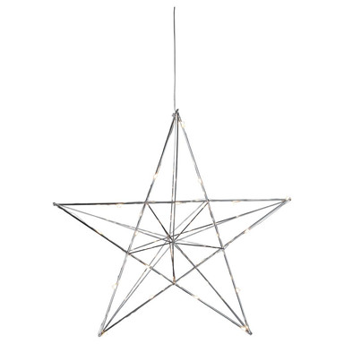 LED-Drahtstern in Silber Line 38cm