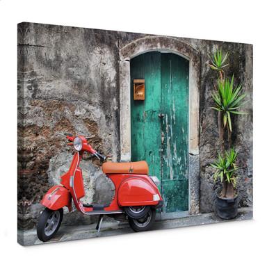 Leinwandbild Red Scooter