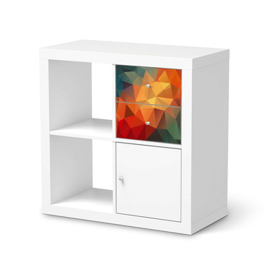 Möbelfolie IKEA Kallax Regal Schubladen - Polygon