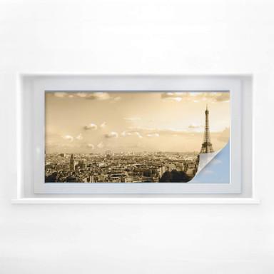 Sichtschutzfolie Paris Skyline - Panorama