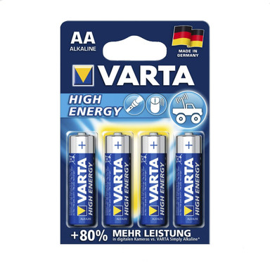 VARTA High Energy Batterien AA 4er Pack (AA, Mignon, LR 06, AM-3, UM-3) - Bild 1
