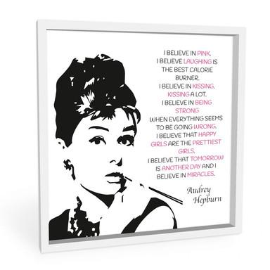 Wandbild Audrey - quadratisch