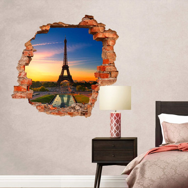 3D Wandtattoo Eiffelturm im Sonnenuntergang