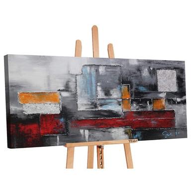 Acryl Gemälde handgemalt Abstraktion 140x70cm - Bild 1