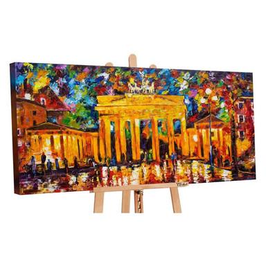 Acryl Gemälde handgemalt Brandenburger Tor 140x70cm