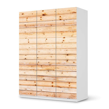 Folie IKEA Pax Schrank 201cm Höhe - 3 Türen - Bright Planks- Bild 1