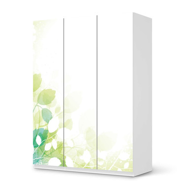 Folie IKEA Pax Schrank 201cm Höhe - 3 Türen - Flower Light- Bild 1