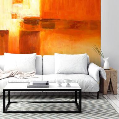 Fototapete Schüssler - Composition in Orange andBrown