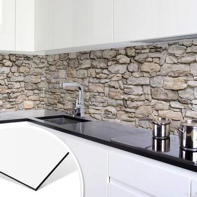 Küchenrückwand - Steinmauer