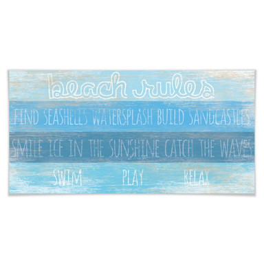 Poster Beach Rules