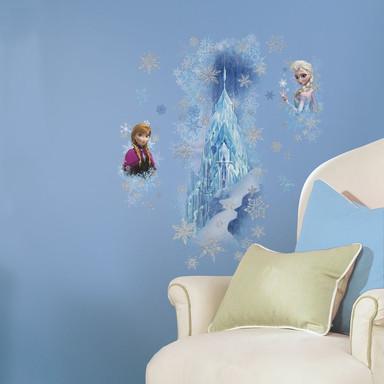 Wandsticker Die Eiskönigin - Anna und Elsa mit Eispalast - Bild 1
