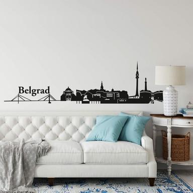 Wandtattoo Belgrad Skyline