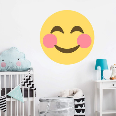 Wandtattoo Emoji Rosy-Cheeked Face