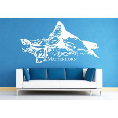 Wohnansicht - Wandtattoo Matterhorn