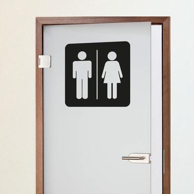 Wandtattoo Toilettenmännchen 2
