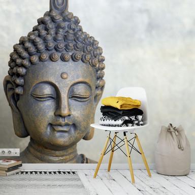 Fototapete Buddha Gesicht - 384x260cm - Bild 1