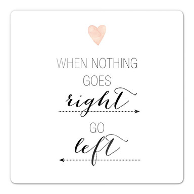 Glasbild Confetti & Cream - When nothing goes right