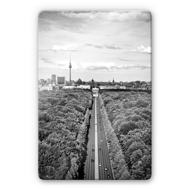 Glasbild Der Himmel über Berlin