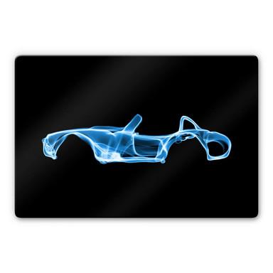 Glasbild Mielu - Blue car