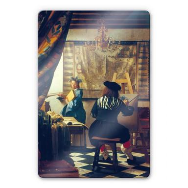 Glasbild Vermeer - Die Malkunst