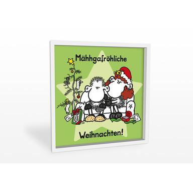 Hartschaumbild sheepworld Mähhgafröhliche Weihnachten!