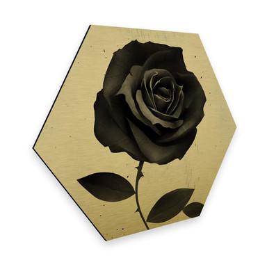 Hexagon - Alu-Dibond-Goldeffekt Ireland - Fabric Rose