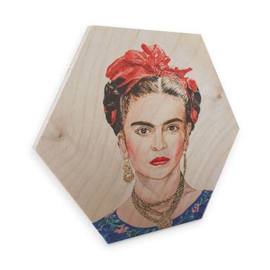 Hexagon - Holz Birke-Furnier Toetzke - Frida Kahlo