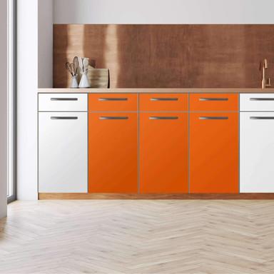 Küchenfolie - Unterschrank 120cm Breite - Orange Dark