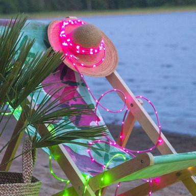 LED Mini Lichterschlauch Tuby in Pink