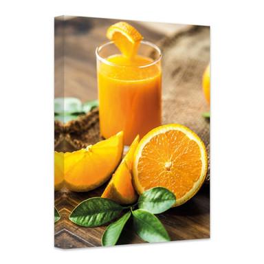 Leinwandbild Frischer Orangensaft