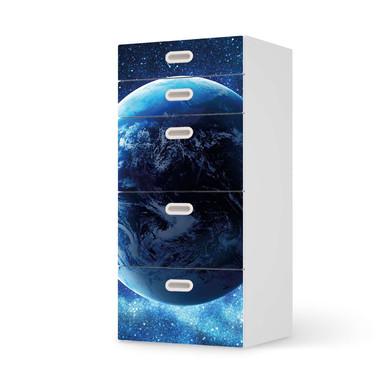 Möbel Klebefolie IKEA Stuva / Fritids Kommode - 5 Schubladen - Planet Blue