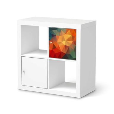 Möbelfolie IKEA Kallax Regal 1 Türe - Polygon