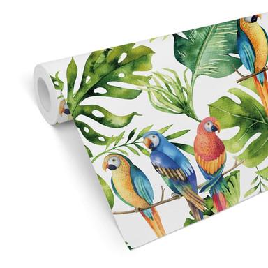Mustertapete Kvilis - Papageien im Dschungel
