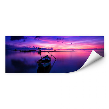 Wallprint Pink Sunrise - Panorama
