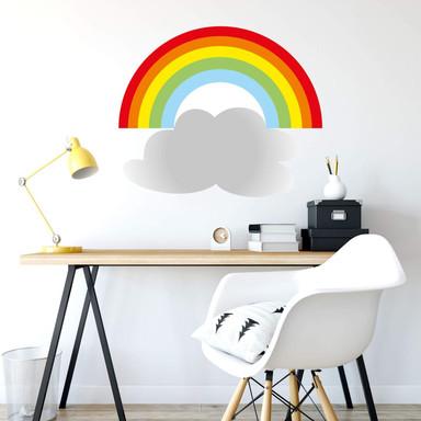 Wandsticker Regenbogen mit Wolke
