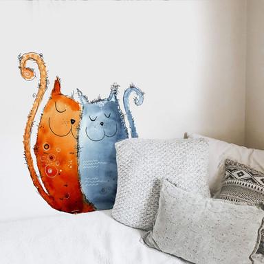 Wandtattoo Hagenmeyer - Verliebte Katzen