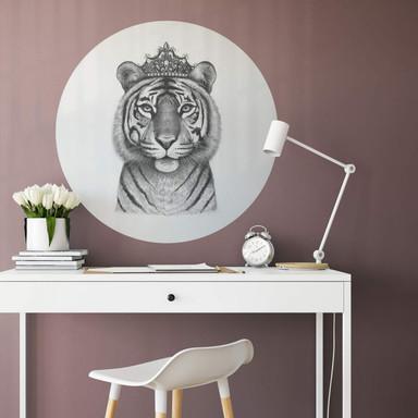 Wandtattoo Korenkova - The Tigress Queen - Rund