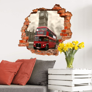 3D Wandtattoo Visit London