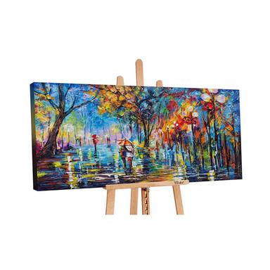 Acryl Gemälde handgemalt Herbstliche Allee 140x70cm - Bild 1