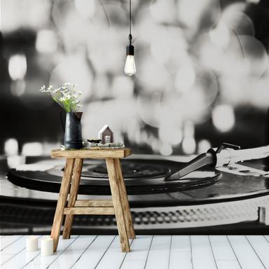 Fototapete Vinyl Record on Turntables - 240x260cm - Bild 1