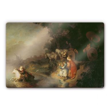 Glasbild Rembrandt - Der Raub der Europa