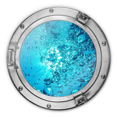 Glasbild rund 3D-Optik Bullauge - Sound of a Ocean