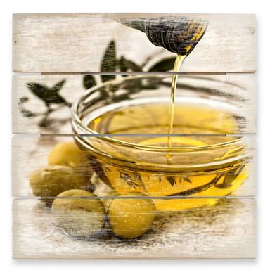 Holzbild Olivenöl